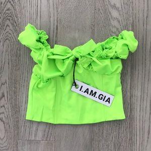 188a364dc616b i am gia Tops - I am Gia Naomi top - neon green - XS